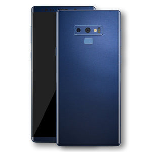 Samsung Galaxy NOTE 9 Deep Ocean Blue Matt Skin Wrap Decal Protector | EasySkinz