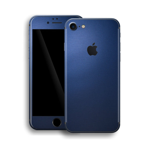 iPhone 8 Deep Ocean Blue Matt Skin Wrap Decal Protector | EasySkinz