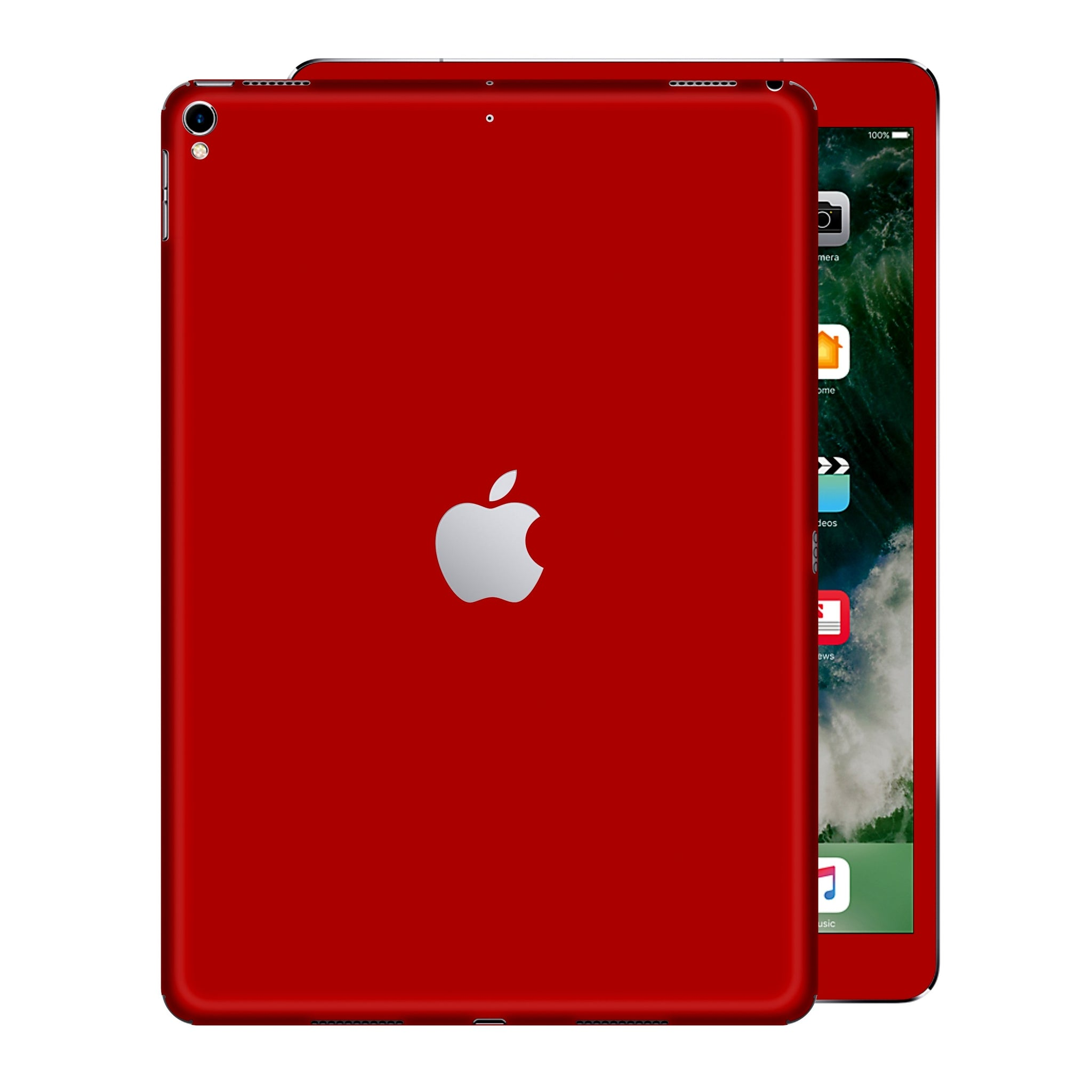 iPad PRO 12.9 inch 2017 Glossy Deep Red Skin Wrap Sticker Decal Cover Protector by EasySkinz