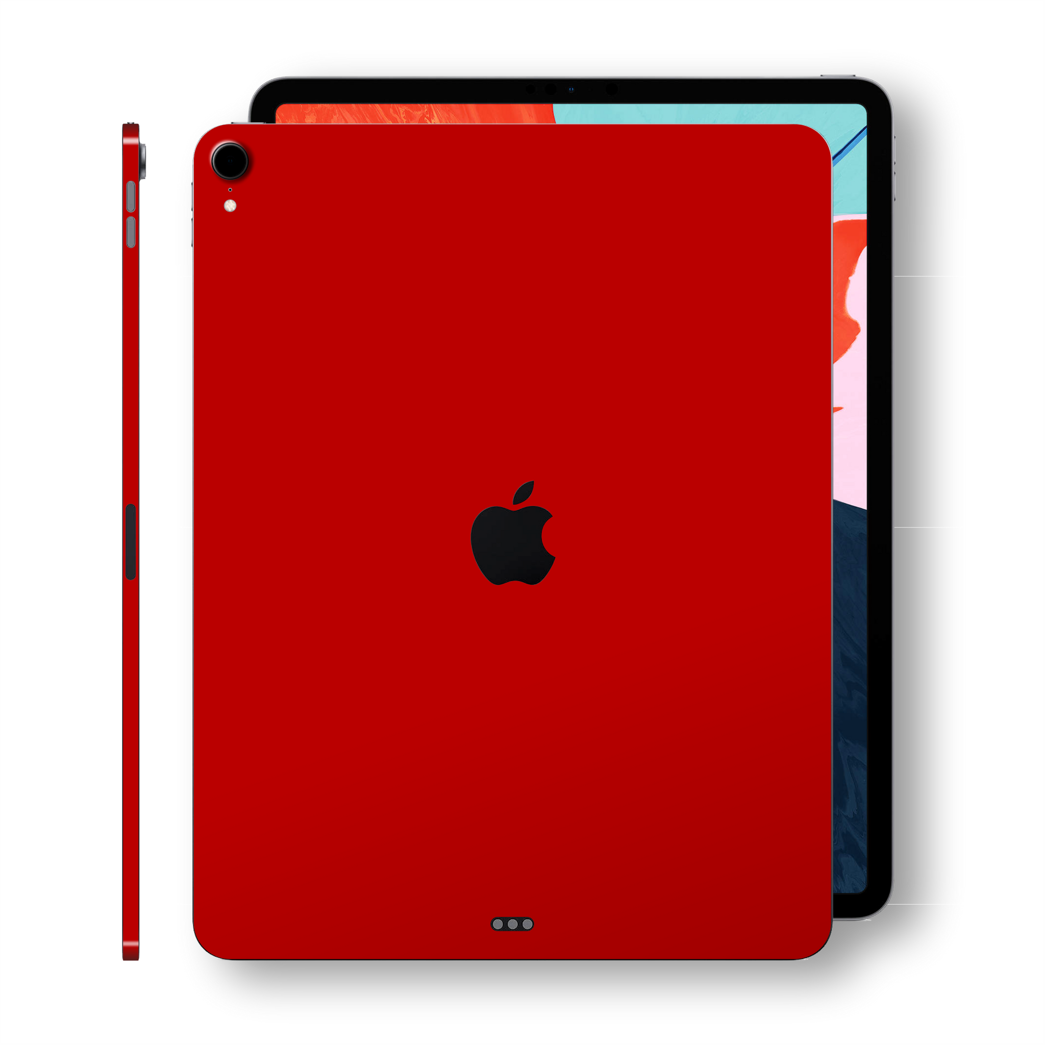 iPad PRO 12.9 inch 3rd Generation 2018 Glossy Deep Red Skin Wrap Sticker Decal Cover Protector by EasySkinz