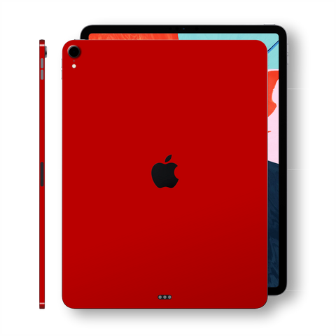 iPad PRO 11-inch 2018 Glossy Deep Red Skin Wrap Sticker Decal Cover Protector by EasySkinz