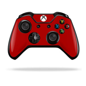 Xbox One Controller Deep Red GLOSSY Finish Skin Wrap Sticker Decal Protector Cover by EasySkinz