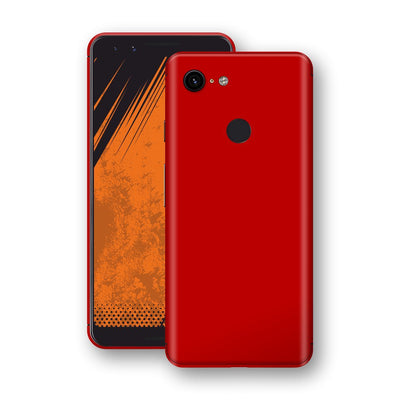 Google Pixel 3 Deep Red Glossy Gloss Finish Skin, Decal, Wrap, Protector, Cover by EasySkinz | EasySkinz.com