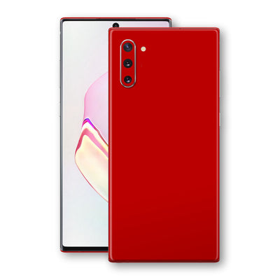 Samsung Galaxy NOTE 10 Deep Red Glossy Gloss Finish Skin, Decal, Wrap, Protector, Cover by EasySkinz | EasySkinz.com