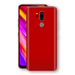 LG G7 ThinQ Deep Red Glossy Gloss Finish Skin, Decal, Wrap, Protector, Cover by EasySkinz | EasySkinz.com