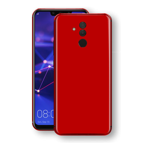 Huawei MATE 20 LITE Deep Red Glossy Gloss Finish Skin, Decal, Wrap, Protector, Cover by EasySkinz | EasySkinz.com