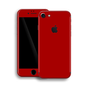 iPhone 8 Glossy Deep Red Skin, Wrap, Decal, Protector, Cover by EasySkinz | EasySkinz.com