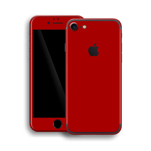 iPhone 7 Glossy Deep Red Skin, Wrap, Decal, Protector, Cover by EasySkinz | EasySkinz.com
