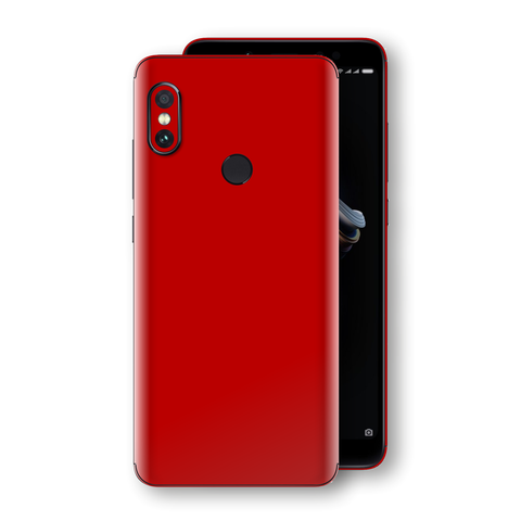 XIAOMI Redmi NOTE 5 Deep Red Glossy Gloss Finish Skin, Decal, Wrap, Protector, Cover by EasySkinz | EasySkinz.com
