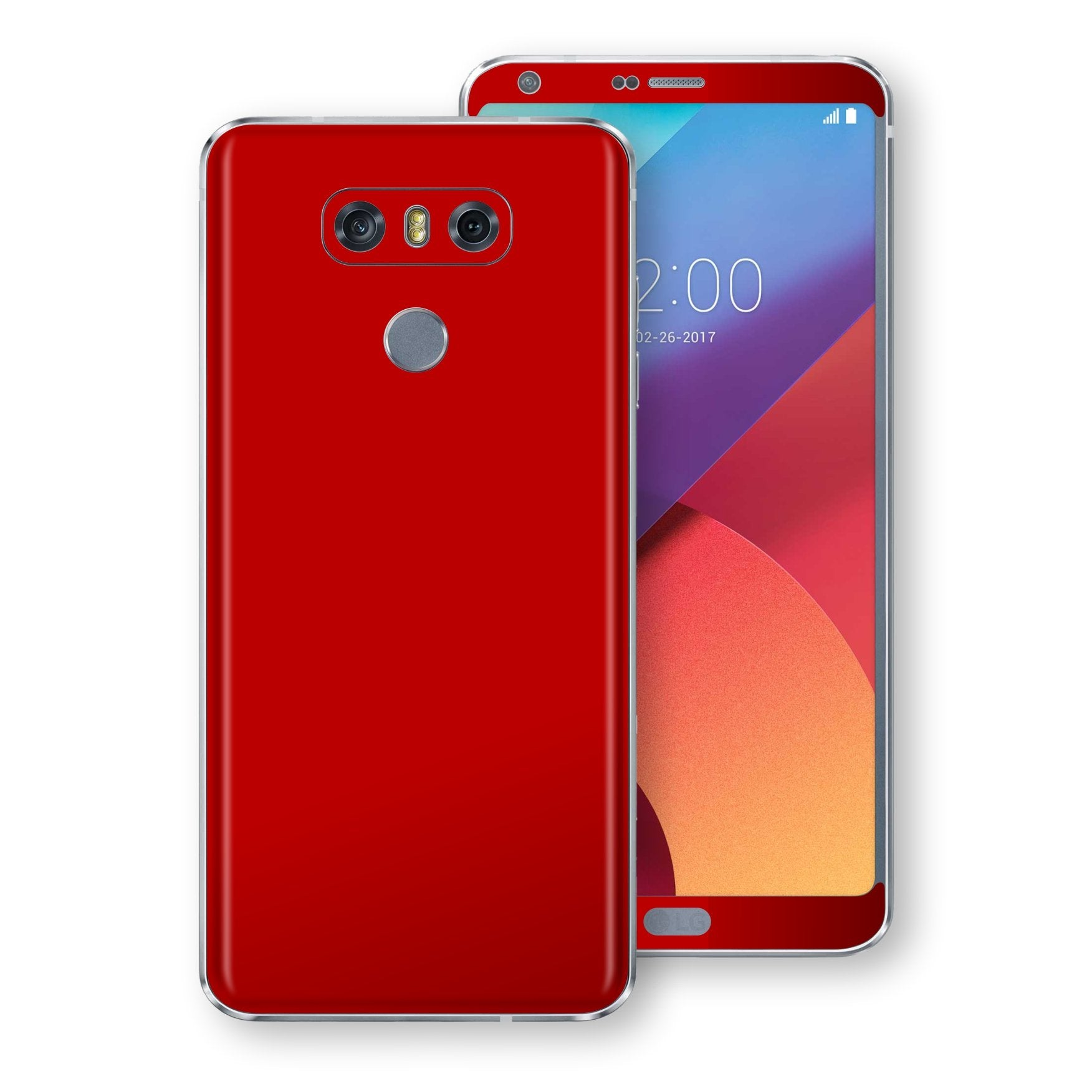 LG G6 Deep Red Glossy Gloss Finish Skin, Decal, Wrap, Protector, Cover by EasySkinz | EasySkinz.com