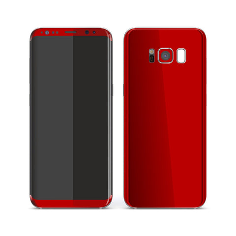 Samsung Galaxy S8+ Deep Red Glossy Gloss Finish Skin, Decal, Wrap, Protector, Cover by EasySkinz | EasySkinz.com