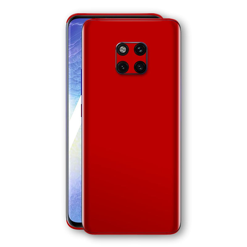 Huawei MATE 20 PRO Deep Red Glossy Gloss Finish Skin, Decal, Wrap, Protector, Cover by EasySkinz | EasySkinz.com