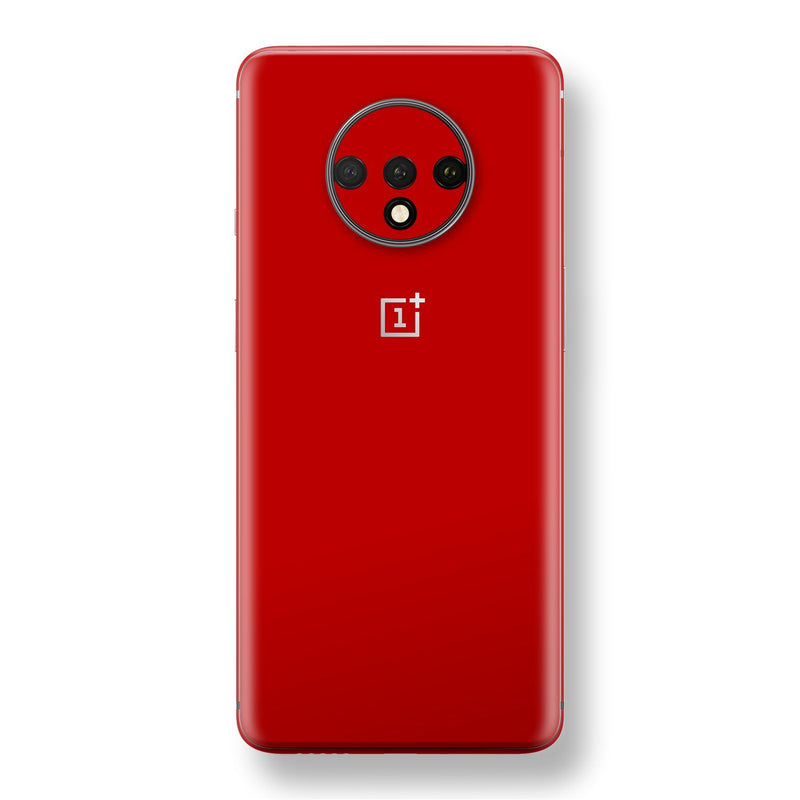 OnePlus 7T Deep Red Glossy Gloss Finish Skin, Decal, Wrap, Protector, Cover by EasySkinz | EasySkinz.com