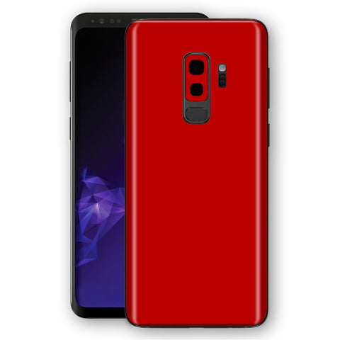 Samsung GALAXY S9+ PLUS Deep Red Glossy Gloss Finish Skin, Decal, Wrap, Protector, Cover by EasySkinz | EasySkinz.com