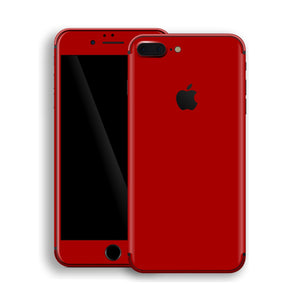 iPhone 8 Plus Deep Red Glossy Gloss Finish Skin, Decal, Wrap, Protector, Cover by EasySkinz | EasySkinz.com