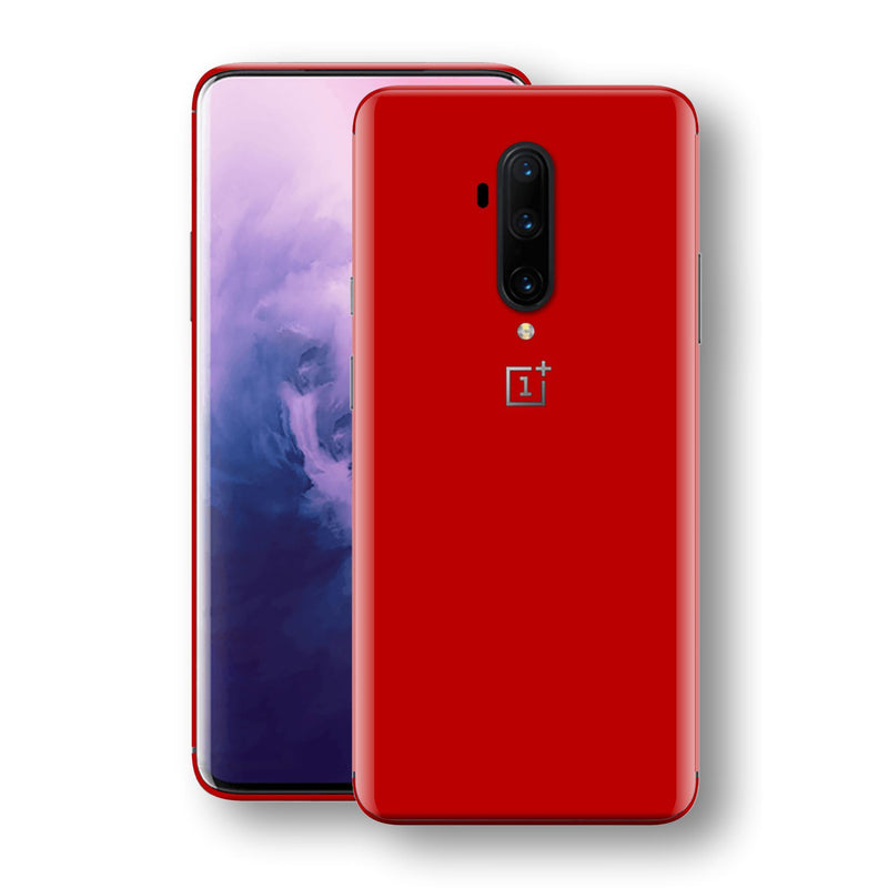 OnePlus 7T PRO Deep Red Glossy Gloss Finish Skin, Decal, Wrap, Protector, Cover by EasySkinz | EasySkinz.com