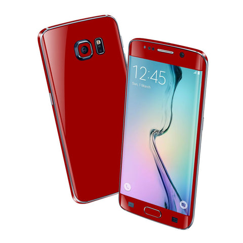 Samsung Galaxy S6 EDGE+ PLUS Colorful GLOSS GLOSSY Deep Red Skin Wrap Sticker Cover Protector Decal by EasySkinz