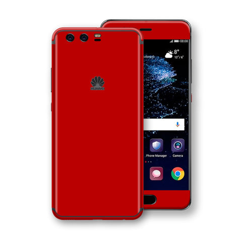 Huawei P10+ PLUS  Deep Red Glossy Gloss Finish Skin, Decal, Wrap, Protector, Cover by EasySkinz | EasySkinz.com