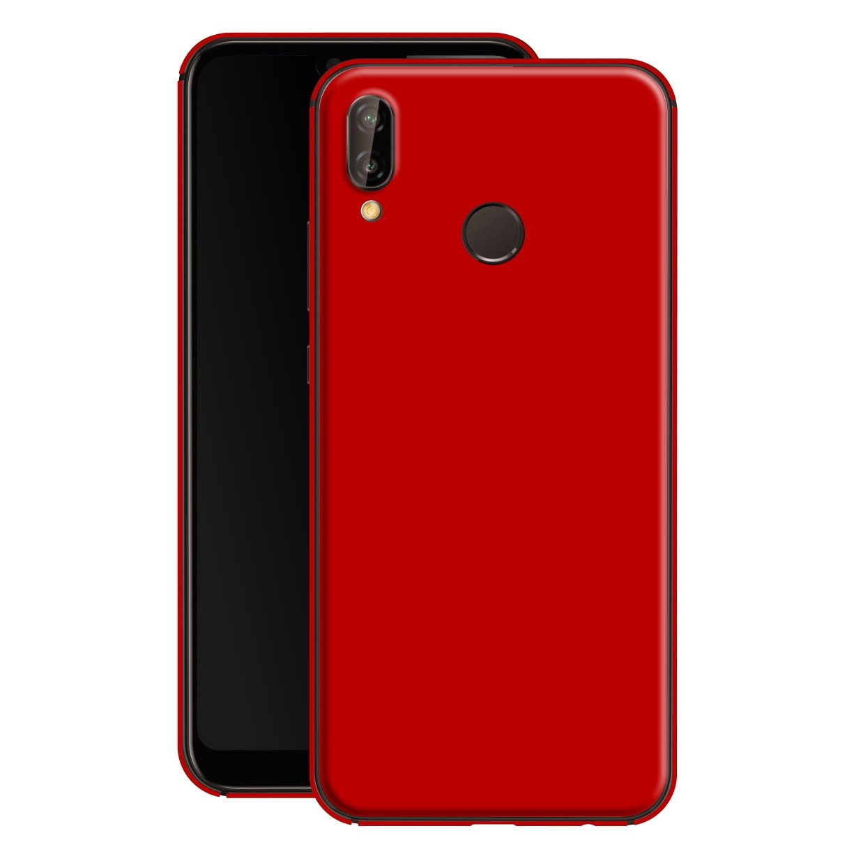Huawei P20 LITE Deep Red Glossy Gloss Finish Skin, Decal, Wrap, Protector, Cover by EasySkinz | EasySkinz.com