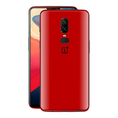 OnePlus 6 Deep Red Glossy Gloss Finish Skin, Decal, Wrap, Protector, Cover by EasySkinz | EasySkinz.com