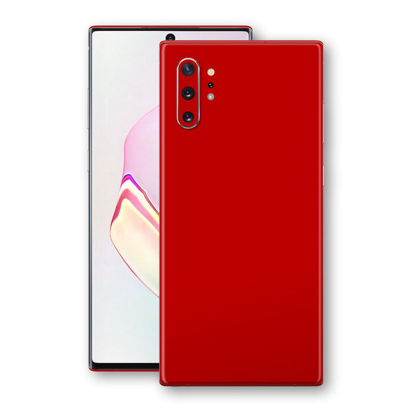 Samsung Galaxy NOTE 10+ PLUS Deep Red Glossy Gloss Finish Skin, Decal, Wrap, Protector, Cover by EasySkinz | EasySkinz.com