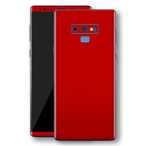 Samsung Galaxy NOTE 9 Deep Red Glossy Gloss Finish Skin, Decal, Wrap, Protector, Cover by EasySkinz | EasySkinz.com
