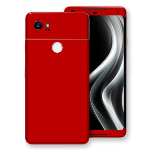 Google Pixel 2 XL Deep Red Glossy Gloss Finish Skin, Decal, Wrap, Protector, Cover by EasySkinz | EasySkinz.com