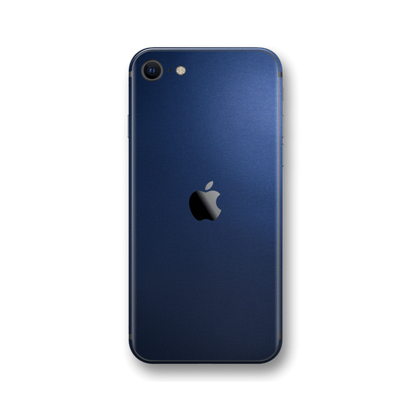 iPhone SE (2020) Deep Ocean Blue Matt Skin Wrap Sticker Decal Cover Protector by EasySkinz