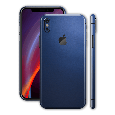 iPhone X Deep Ocean Blue Matt Skin Wrap Decal Protector | EasySkinz