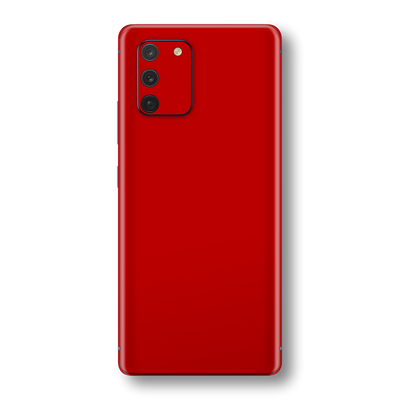 Samsung Galaxy S10 LITE Deep Red Glossy Gloss Finish Skin Wrap Sticker Decal Cover Protector by EasySkinz