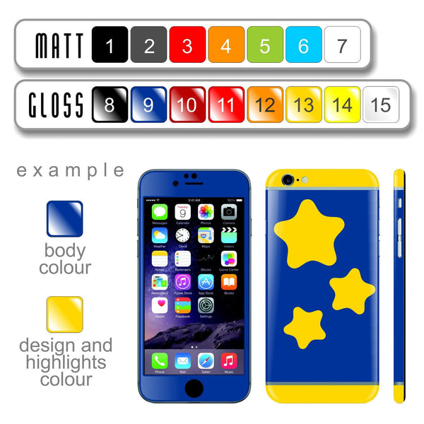 iPhone 6 Plus Custom Colorful Design Edition  '6' 014 Skin Wrap Sticker Cover Decal Protector by EasySkinz