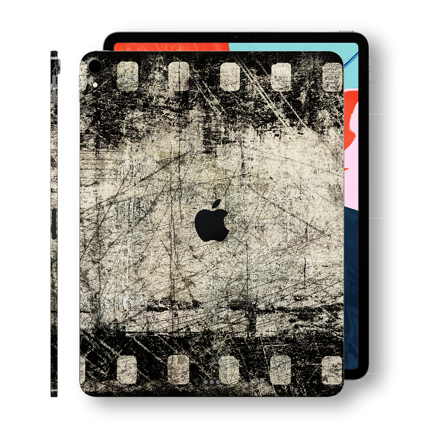 "iPad PRO 11"" inch 2018 Signature Vintage Cine-Film Printed Skin Wrap Decal Protector 