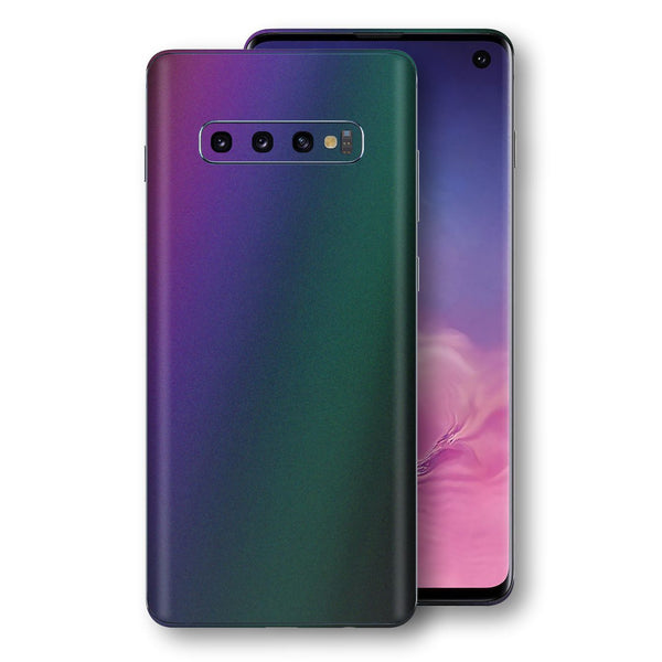 Samsung Galaxy S10 Chameleon DARK OPAL Skin Wrap Decal Cover by EasySkinz