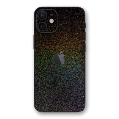 iPhone 12 mini Glossy GALAXY Black Milky Way Rainbow Sparkling Metallic Skin Wrap Sticker Decal Cover Protector by EasySkinz