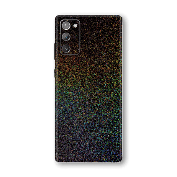 Samsung Galaxy NOTE 20 Glossy GALAXY Black Milky Way Rainbow Sparkling Metallic Skin Wrap Sticker Decal Cover Protector by EasySkinz