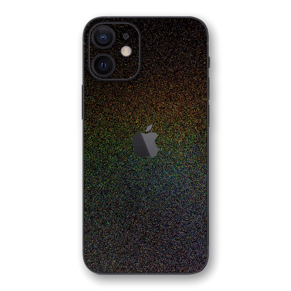 iPhone 12 Glossy GALAXY Black Milky Way Rainbow Sparkling Metallic Skin Wrap Sticker Decal Cover Protector by EasySkinz