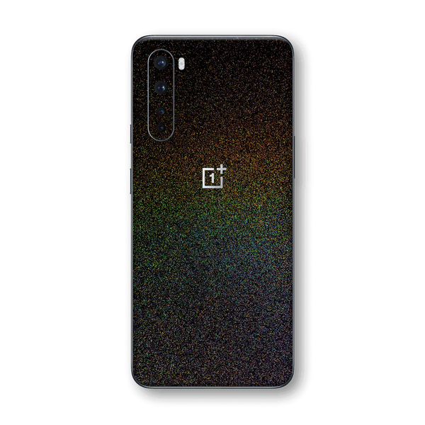 OnePlus Nord Glossy GALAXY Black Milky Way Rainbow Sparkling Metallic Skin Wrap Sticker Decal Cover Protector by EasySkinz