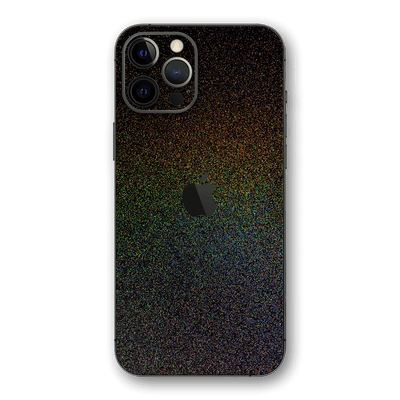 iPhone 12 Pro MAX Glossy GALAXY Black Milky Way Rainbow Sparkling Metallic Skin Wrap Sticker Decal Cover Protector by EasySkinz