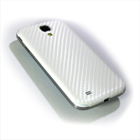 Samsung Galaxy S4 white carbon skin