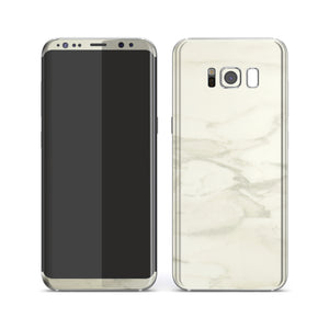 Samsung Galaxy S8+ Luxuria White Marble Skin Wrap Decal Protector | EasySkinz