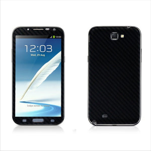 Samsung Galaxy Note 2 Black Carbon Fibre Skin