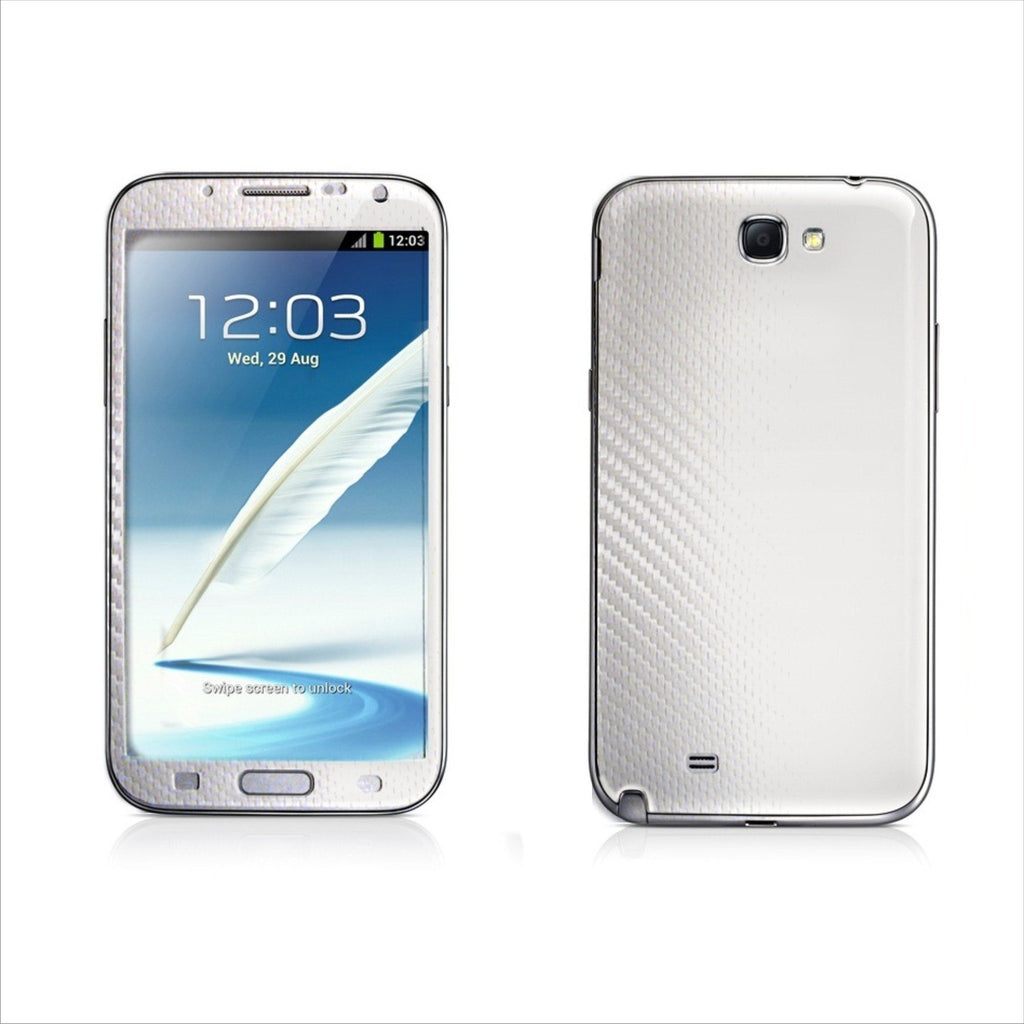 Samsung Galaxy Note 2 white carbon fibre skin