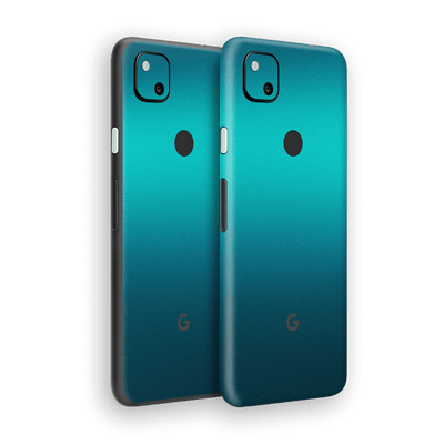 Google Pixel 4a Gloss Glossy Atomic Teal Metallic Skin Wrap Sticker Decal Cover Protector by EasySkinz