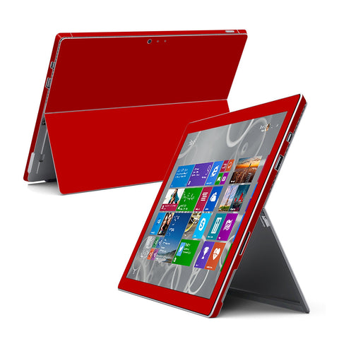 Microsoft Surface Pro 3 GLOSSY Deep Red Skin Wrap Sticker Cover Decal Protector by EasySkinz