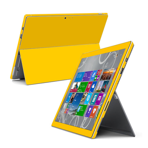 Microsoft Surface Pro 3 GLOSSY Golden Yellow Skin Wrap Sticker Cover Decal Protector by EasySkinz