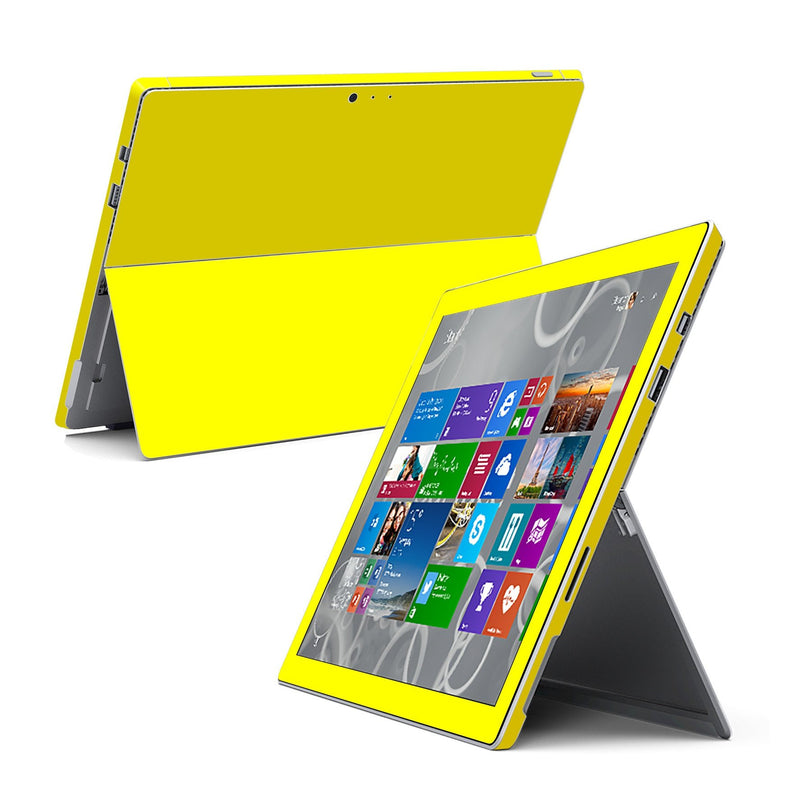 Microsoft Surface Pro 3 GLOSSY Lemon Yellow Skin Wrap Sticker Cover Decal Protector by EasySkinz