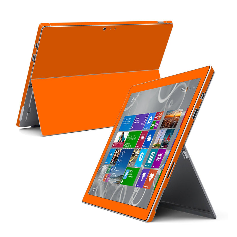 Microsoft Surface Pro 3 GLOSSY Orange Skin Wrap Sticker Cover Decal Protector by EasySkinz
