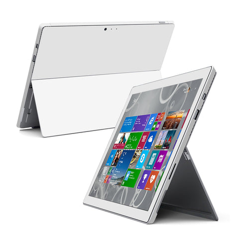Microsoft Surface Pro 3 White GLOSSY Skin Wrap Sticker Cover Decal Protector by EasySkinz