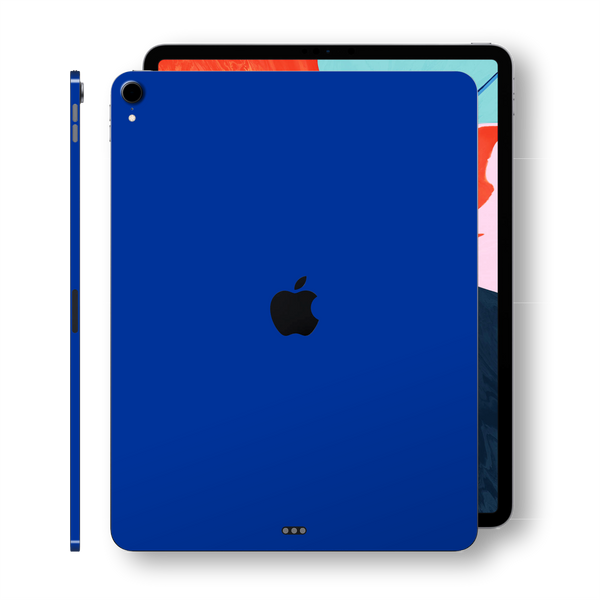 iPad PRO 11-inch 2018 Glossy Royal Blue Skin Wrap Sticker Decal Cover Protector by EasySkinz