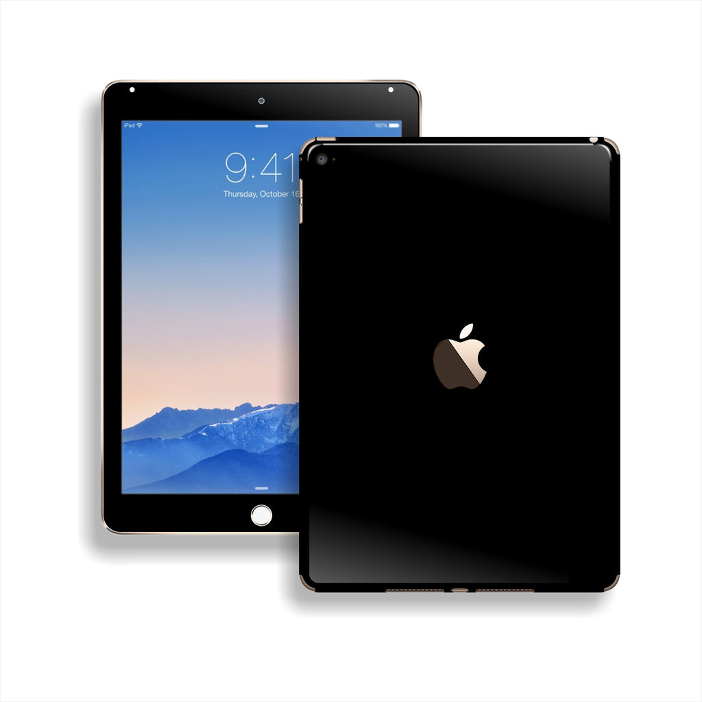 iPad Air 2 Black Glossy Skin Wrap Sticker Decal Cover Protector by EasySkinz
